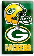 GREEN BAY PACKERS FOOTBALL TEAM LOGO LIGHT DIMMER CABLE WALL PLATE BOYS MAN CAVE