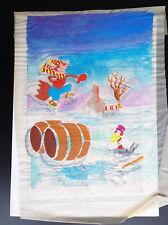Planche originale de montage de couverture avec calque couleur Foxie N° 7