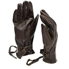 Original Swedish army combat leather gloves. Genuine brown leather