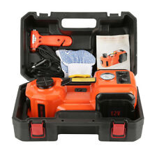 3 Function 5T 36CM Lift Car Electric Jack & Impact Wrench & Air compressor Set
