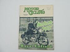 Vintage Feb 1954 Motorcycling Magazine Royal Enfield Meteor 100 L8150