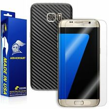 ArmorSuit - Samsung Galaxy S7 Edge Screen+Black Carbon Fiber Full Body Protector