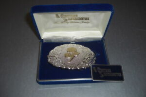 Montana Silversmith sterling silver plate belt buckle w/rose new in original box