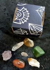10 Boxed Sets of 7 Natural Gemstones Minerals & Tumbled Crystals Healing Rock