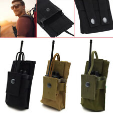 Adjustable MOLLE Radio Holder Walkie Talkie GPS Bag Holster Open Top Pouch SA