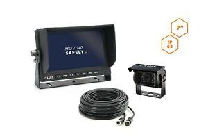 """LUIS Basic Auto Rückfahrkamera System (schwarz) 7"""" Monitor Nachtsicht IP68"""