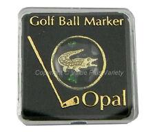 Golf Tee Ball Marker Opal Chip Australia Souvenir Crocodile