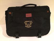 American bodybuilding mens laptop messenger bag canvas notebook briefcase black