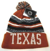 TEXAS Skull Cap Striped Cuff Pom Beanie Winter Hat Cuffed NWT