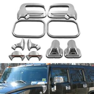 FOR 2006-2009 HUMMER H2 SUV SUT DOOR MIRROR COVERS TRIMS MOULDING CHROME 10PCS