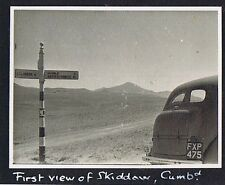 SKIDDAW Cumbria Old Motor car on the Road - Vintage Photograph 1955