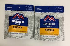 Lot of 2 Mountain House Granola with Milk and Blueberries Freeze Dried Food Prep