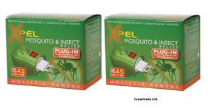 Xpel Mosquito & Insect Repellent 2pin Plug-In Diffuser Relief Solution 35ml X 2