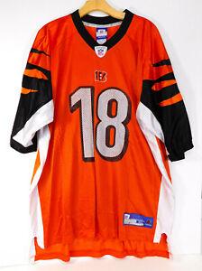 CINCINATTI BENGALS AJ GREEN #18 JERSEY Orange NFL Football REEBOK MEN'S XL