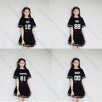 Kpop EXO Chanyeol Skirt Women Dress Xiumin Baekhyun Chen Kai Kris Suho T-shirt