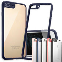Hybrid Glossy Clear Silicone BUMPER SHOCKPROOF Case Cover Skin for iPhone 8 Plus