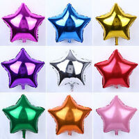 "18"" 5/10Pcs Large Star Foil Balloon Birthday Wedding Party Helium Ballons Decor"
