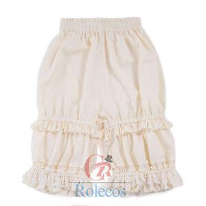Victorian Lolita Bloomer Pantaloons Lace Ruffles Drawers Cabaret US SHIP