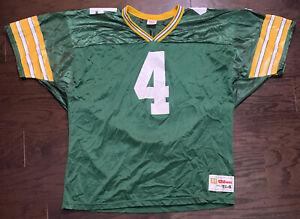 Vintage Brett Favre 4 Green Bay Packers NFL Football Wilson Jersey RARE Mens XXL
