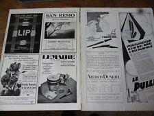 LIP montre 37 + DUNHILL + PULLER + LEMAIRE publicité papier ILLUSTRATION 1929