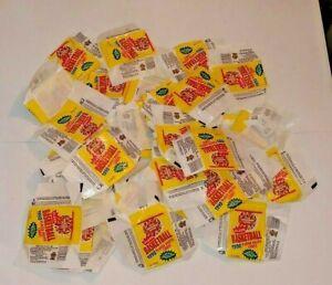 1990 Fleer Basketball Cards WRAPPER Lot of 53 Original Pieces - NBA LAST DANCE