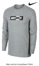 Nike Just Do It Manga Larga T-Shirt Mens tamaño: mediano
