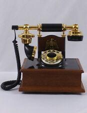 Vintage Deco Tel French Style Rotary Phone - Wood Veneer w/ Eagle Emblem