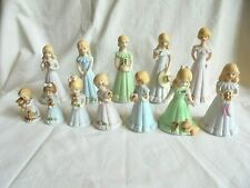 Lot of 12 Vintage Enesco Growing Up Birthday Girls Figurine Lot 1-13 Years No 3