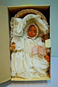 Raikes Originals Juliet Christening Baby Doll Box Hand Carved 1989 NIB Vintage