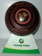 NEW  Lawn Bowls Drakes Pride Professional  Speckled brown  Size 1 H