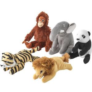 IKEA Mini Stofftiere DJUNGELSKOG Affe Löwe Elefant Tiger Panda Bär Kuscheltier