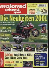 Motorradzeitschrift Motorrad Reisen Sport Ausgabe 08/2000