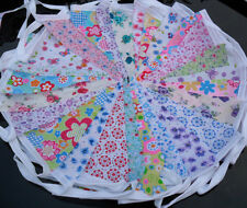 Handmade Vintage Floral Fabric Bunting 30ft~30 flags Free post Weddings~Parties