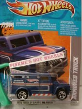 2011 i Hot Wheels ARMORED TRUCK#229∞ Blue ∞Video Game Heroes∞1/64