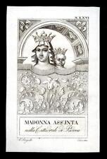 santino incisione1800 MADONNA ASSUNTA-PADOVA