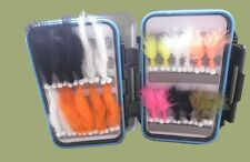 Boxed Trout Fishing Flies, 24 Booby Lure and Zonkers, Size 10, Fly Fishing