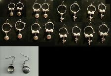 Volleyball Player Earring with Charm & Crystal Beads Sports