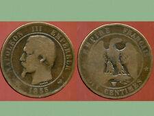 FRANCE  FRANCIA  10 centimes NAPOLEON III   1855 W  ancre  (5)