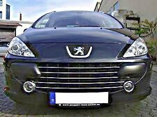 PEUGEOT 307 HB SW Estate - CHROME Kit Front Grille Covers 3M Trim Tuning New!
