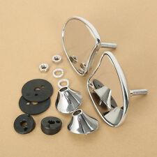 Metal 10mm Side Inner Fairing Mount Mirrors For Harley Street Glide Tri 2014-Up