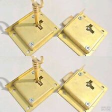 4 recessed lock cupboard solid brass key heavy door old style polished 6 cm B