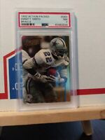 Emmitt Smith Dallas Cowboys Legend 1992 Action Packed BRAILLE #283 PSA 7 NR MINT