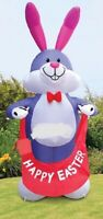 EASTER BUNNY WITH EGG  BANNER HUGE 12 FT AIRBLOWN INFLATABLE YARD DECORATION