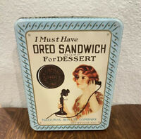 Vintage Oreo Sandwich Tin Nabisco 1986  - Replica of 1918 Ad