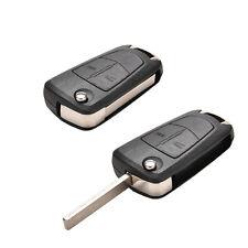Vauxhall Opel Corsa Astra Vectra Zafira 2 Button Jemote  Flip Key Fob Case E&F