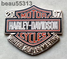 HARLEY DAVIDSON 2007 WINTER DEALERS MEETING VEST JACKET HAT PIN
