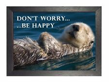 Dont Worry-Be Happy-Otter Fun lazy Poster Lanze Lebensstil Zitat Foto