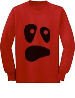 Halloween Ghost Costume Funny Ghoul Face Toddler/Kids Long sleeve T-Shirt Spooky
