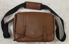 Case Crown Camera Bag Cross Body Messenger Light Brown Faux Leather