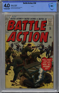 BATTLE ACTION #30 CBCS 4.0 - EXTREMELY RARE ATLAS WAR - ONLY 1 on CGC - 1957